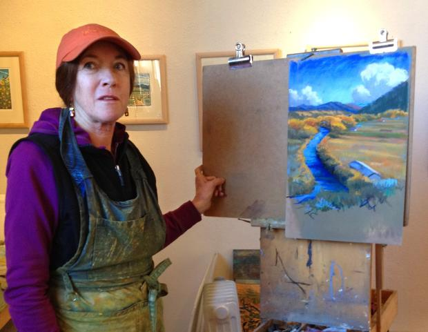 Artist Angie Coleman has lived in the New Mexico community of Taos for 40 years and maintains a gallery there.
