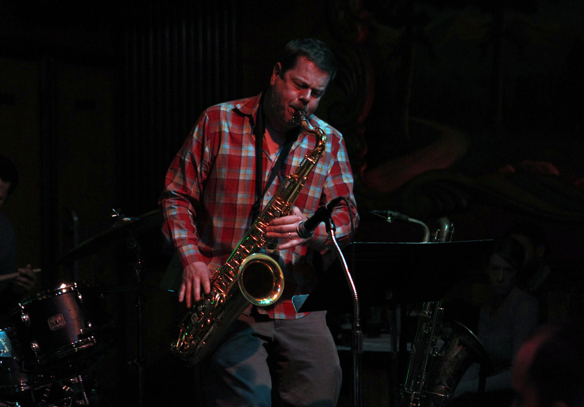 Ken Vandermark plays the saxophone at the Green Mill in Chicago.