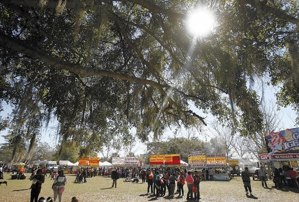 Beautiful mild and sunny weather is on hand during the ZORA! Festival in Eatonville on Friday, February 1, 2013.