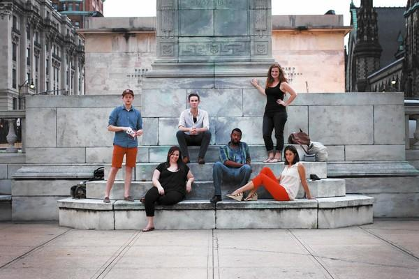 "The cast of Baltimore-filmed and -set web series ""BFA"" (from left to right): David Brasington, Katie Hileman, Sean McComas, Anderson Wells, Katie Kopajtic, Jessie Poole."