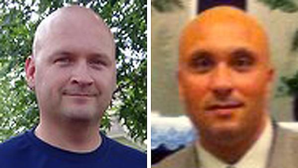 Illinois State Trooper Douglas Balder, left, and tollway worker Vincent Petrella.