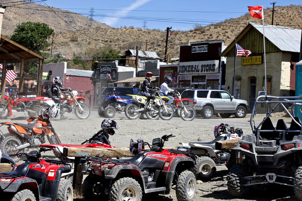 Bikers bring new life to a Mojave Desert ghost town
