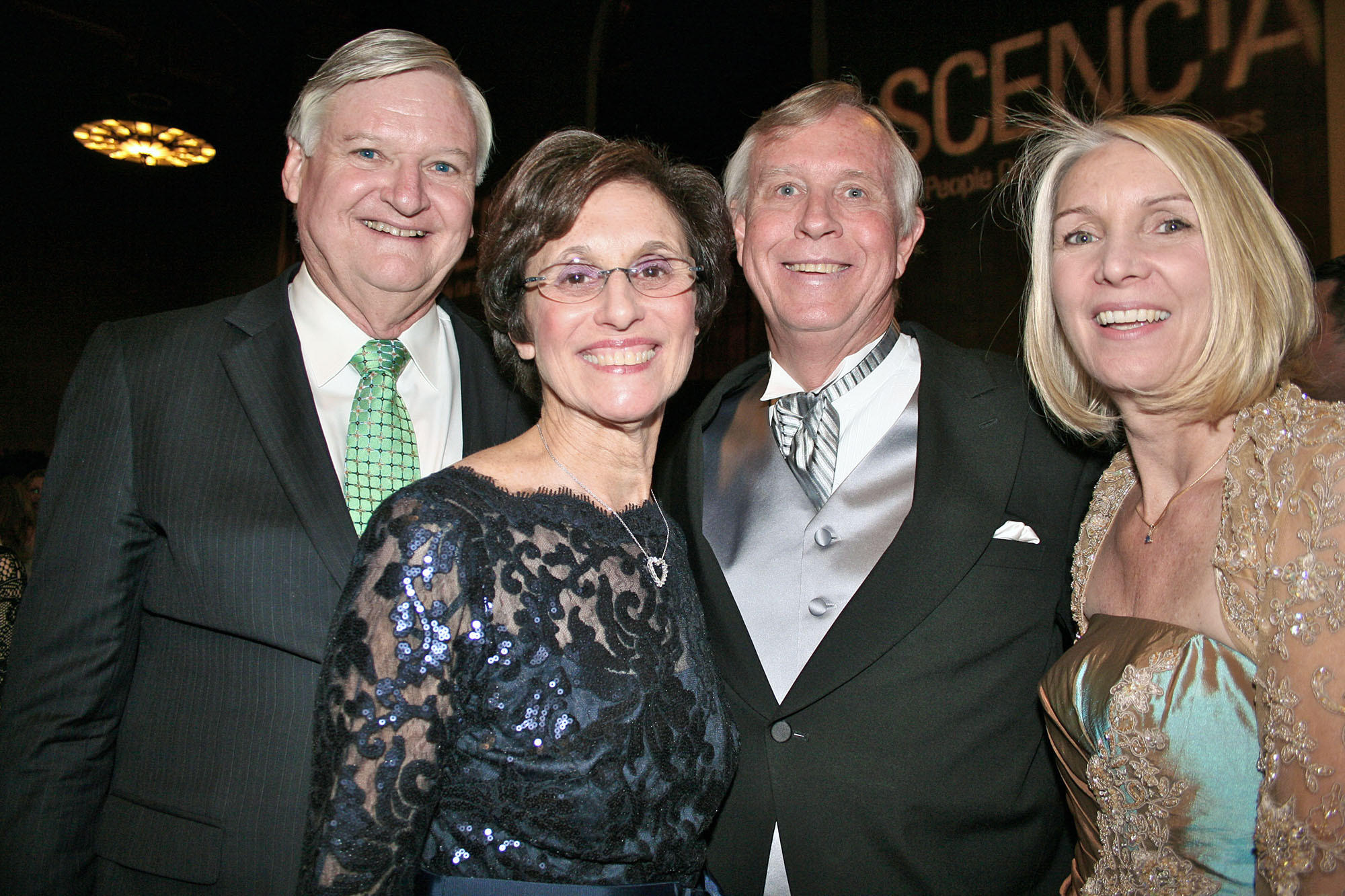 "Ascencia VIPs at the Gala ""All Aboard"" are, from left, Bruce Hinckley, wife and Gala Chairperson Debbie Hinckley, Board President Chip Stone with wife Nancy Stone."