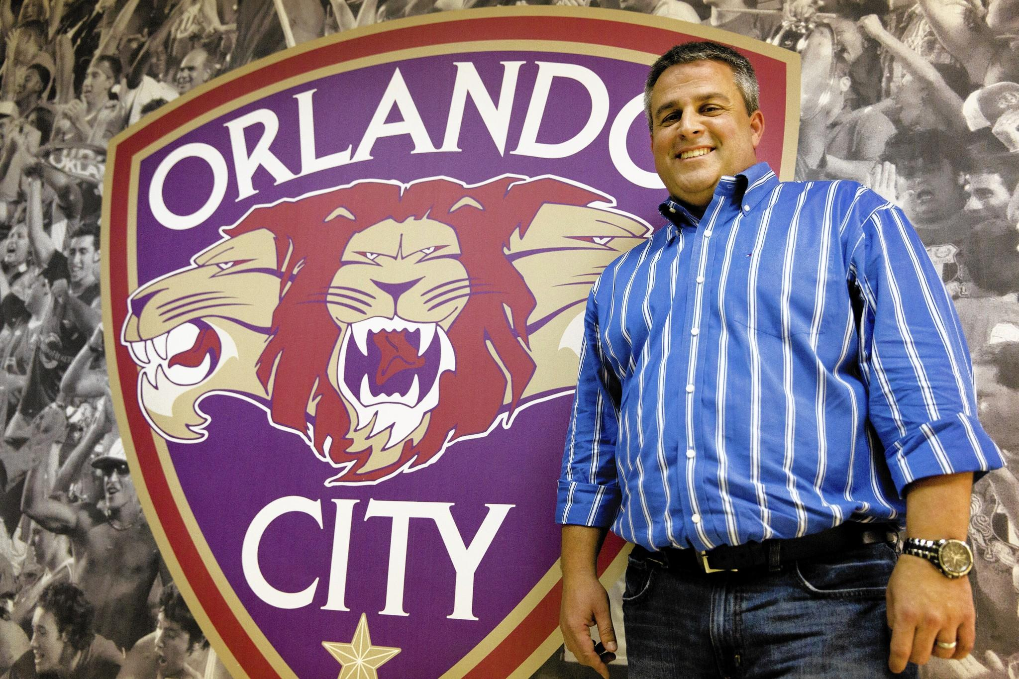 Orlando City Soccer senior VP of Soccer Operations Paul McDonough.