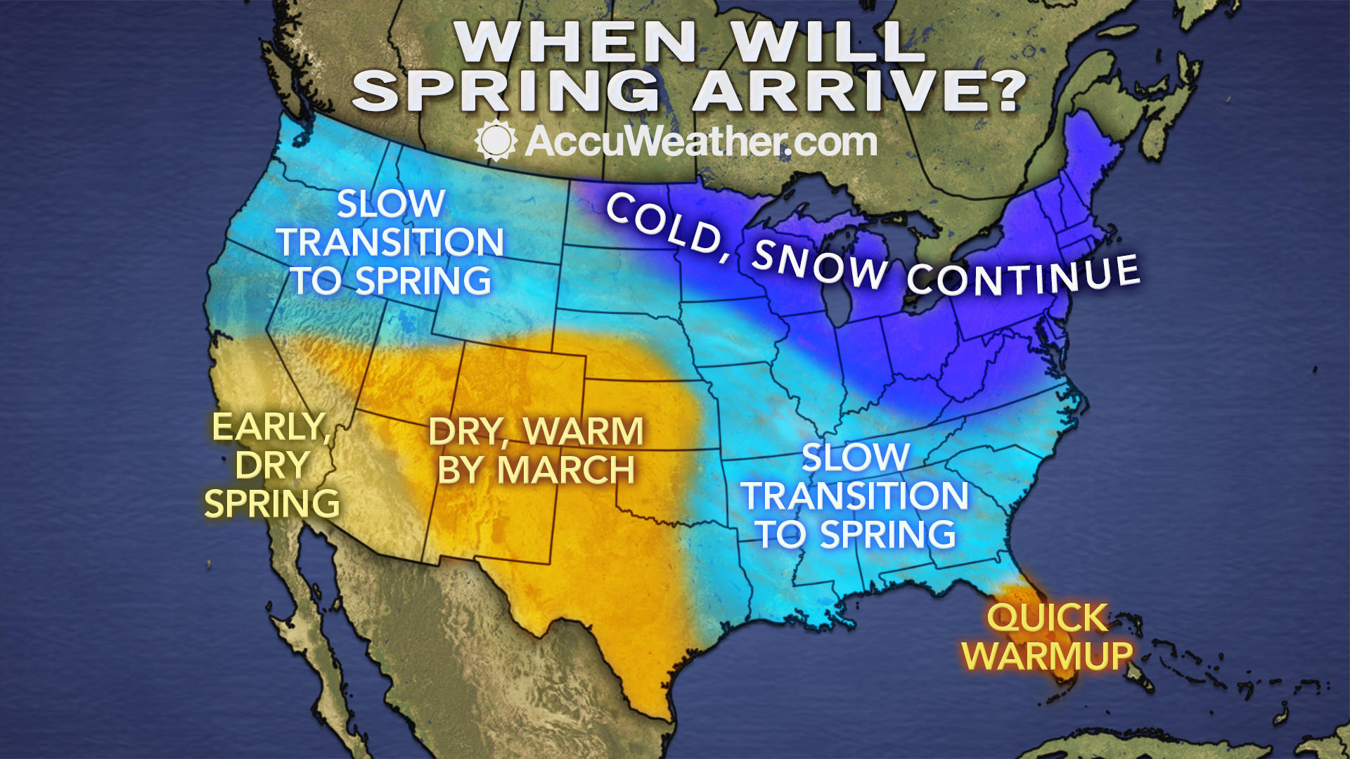 AccuWeather.com predicts that winter weather will drag into March in the mid-Atlantic and Northeast.