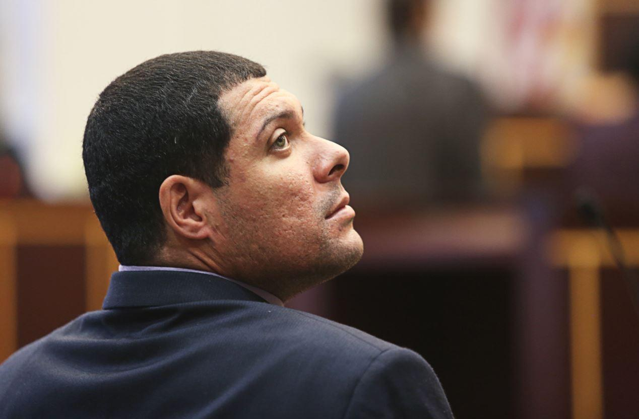 Luis Omar Rivera, 29, at the Orange County Courthouse, on Wednesday, January 29, 2014. Rivera was arrested in 2010 after his 4-month-old daughter, Jaliya, was fatally injured while in his care.