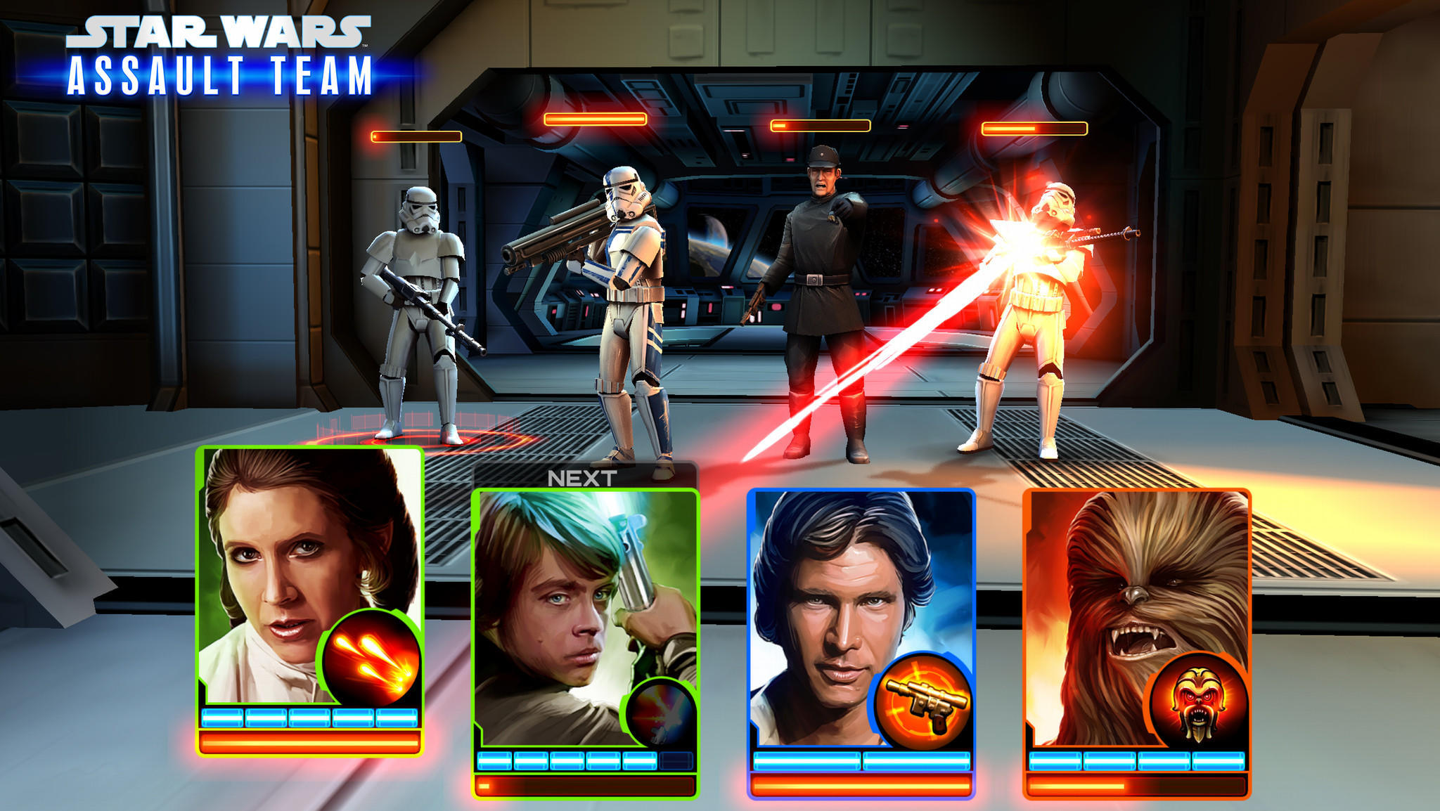 A screenshot from 'Star Wars: Assault Team', a new game for mobile devices from Disney Interactive, in partnership with LucasArts.