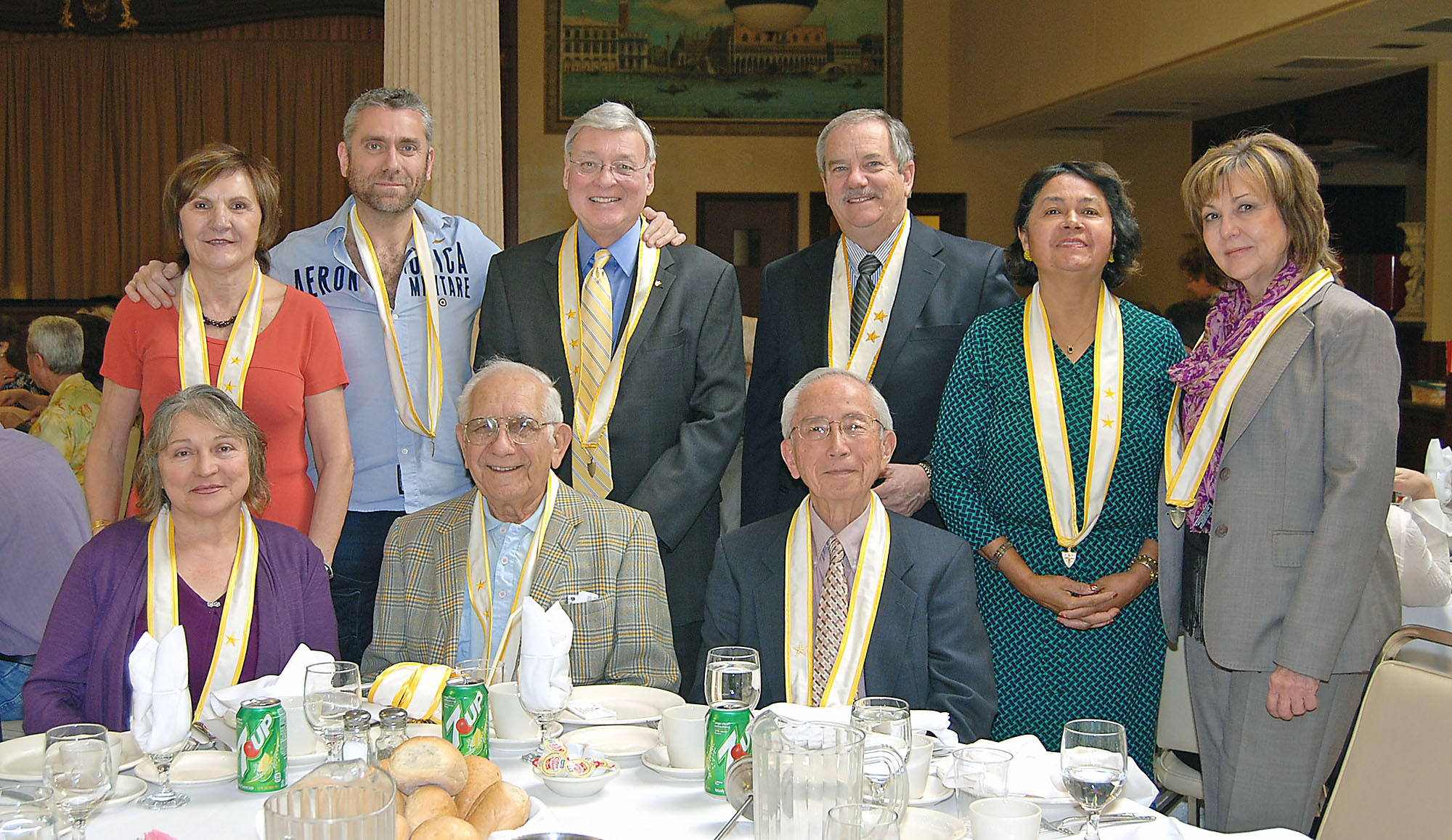 Board members of Italian Catholic Federation Branch 374 from St. Bede are shown here standing left to right: Fiora Marcucci Murphy, Masmiliano Leonida Bastone, Mark Mannarelli, Al Restivo, Branch president and first vice president of the district; Maria DeSalguera, and Rae Ann Mertz. Seated, from left, are Nancy Lieggi-Ammirato, Joseph Vinci and Jack Kojimoto.
