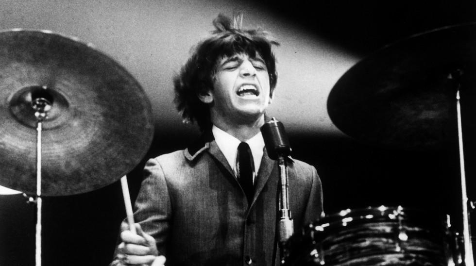 Ringo Starr rocks out at the Washington Coliseum during the band's first live U.S. concert, Feb. 11, 1964.