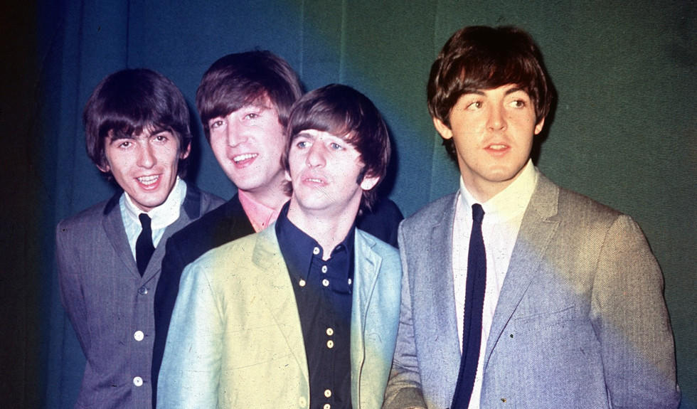 The Beatles in 1964 during their first U.S. tour.