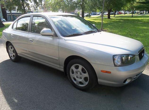 A second vehicle, similar to this 2002 Hyundai Elantra, sustained damage to the driver's side front end and wheel well after striking the fallen pedestrian, Hollywood Police said.