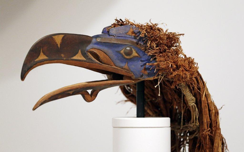 The Seattle Art Museum wagered a loan of this 135-year-old raven mask from the Nuxalk Nation of British Columbia in a Super Bowl bet with the Denver Art Museum. When the tribe objected, the museum withdrew it from the bet and apologized.