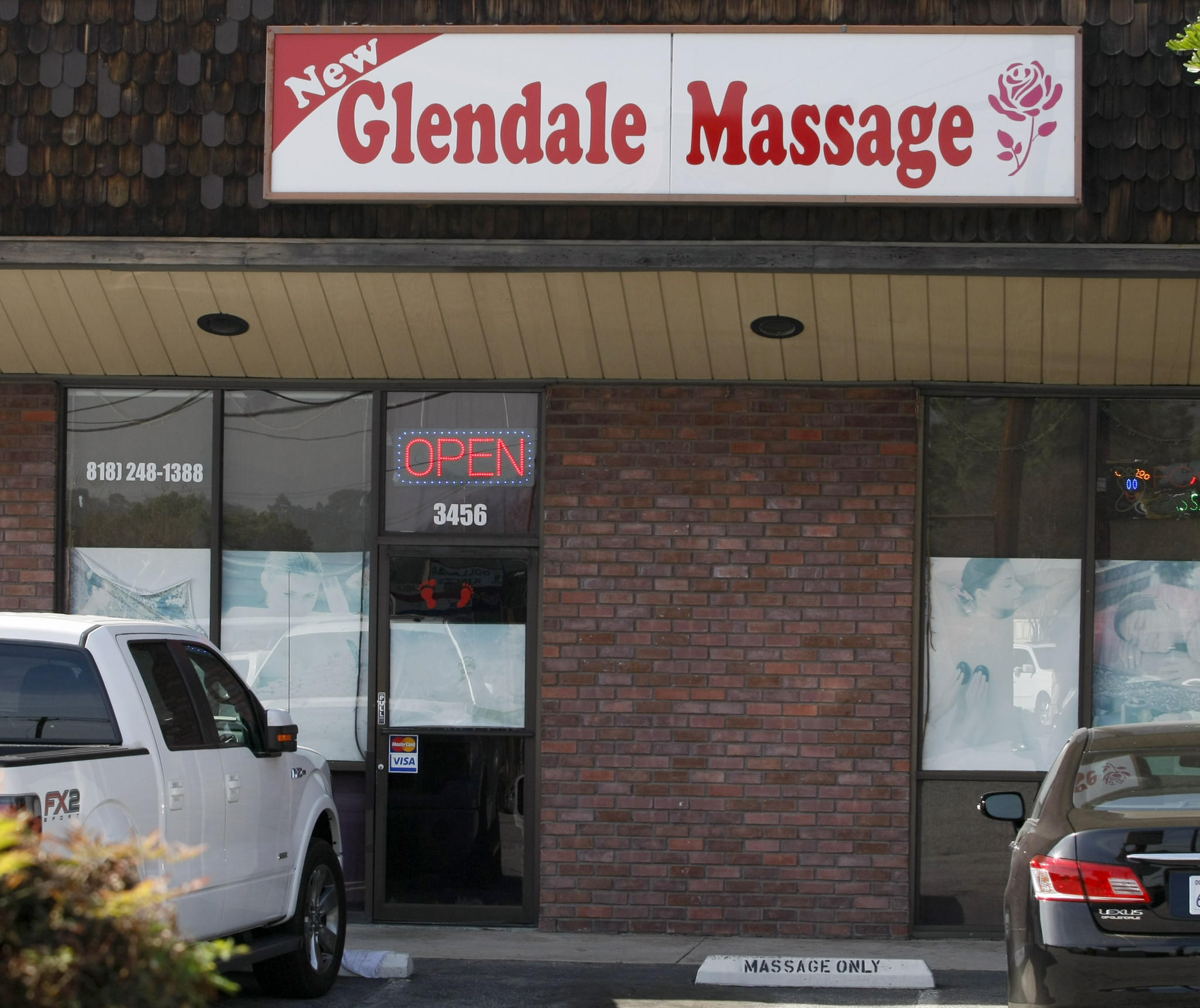 Glendale Massage, located at 3456 Foothill Blvd., pictured on Wednesday, January 29, 2014.
