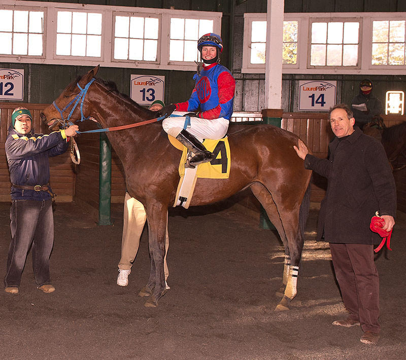 Trevor McCarthy on Gypsy Heart at Laurel Park
