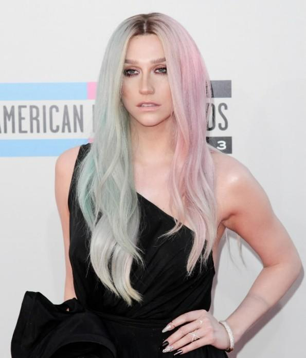 Pop star Ke$ha arrives at the American Music Awards at the Nokia Theatre L.A. Live in Los Angeles Nov. 24, 2013.