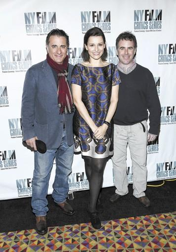 """At Middleton"" director Adam Rodgers (far right) with actor Andy Garcia (far left) and Alison Bailes at an ""At Middleton"" screening."