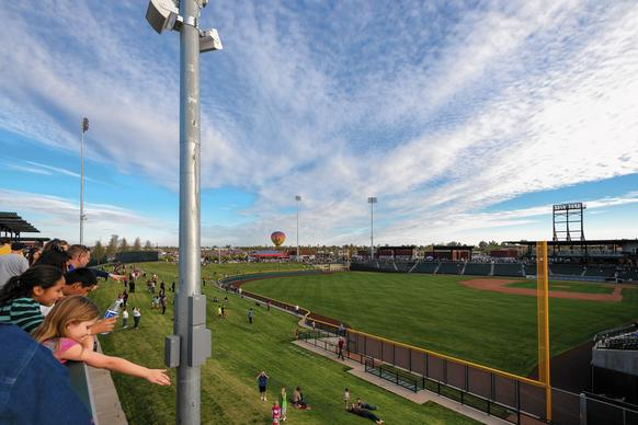 "There's even a ""rooftop"" at the new Cubs Park in Mesa, Arizona."