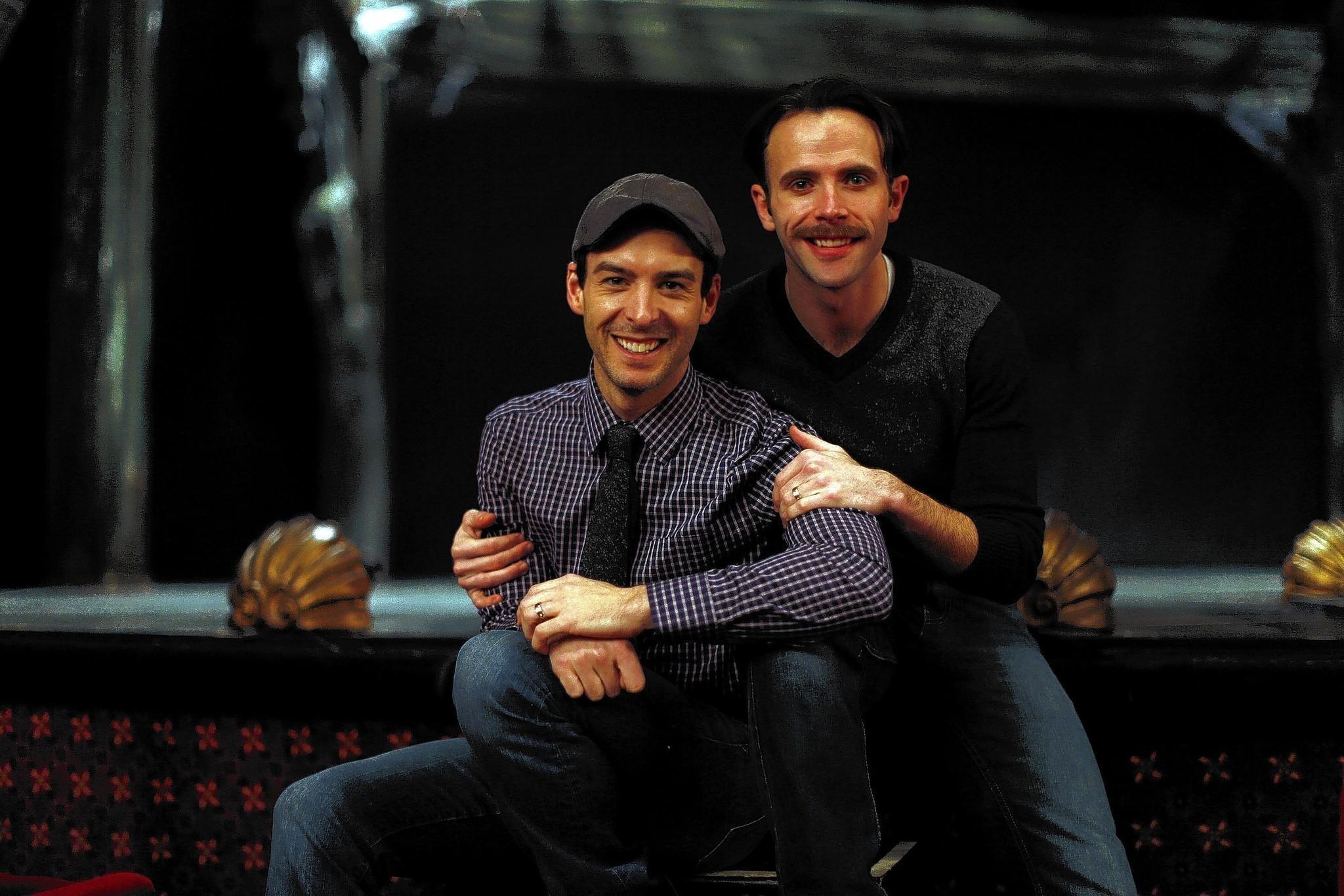 Stephen Schellhardt (left) and Devin DeSantis at the Drury Lane Theater in Oak Brook, Ill.