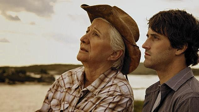 "Olympia Dukakis and Ryan Doucette in ""Cloudburst."" Doucette will attend a screening of the film in Norfolk as part of the Reel it Out Queer Film Festival."