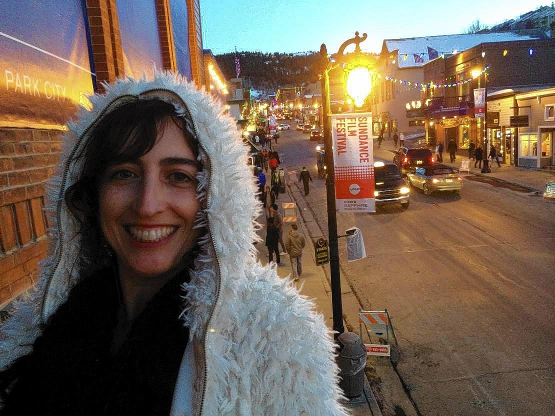 Glen Ellyn native and filmmaker Caryn Capotosto at the Sundance Film Festival.