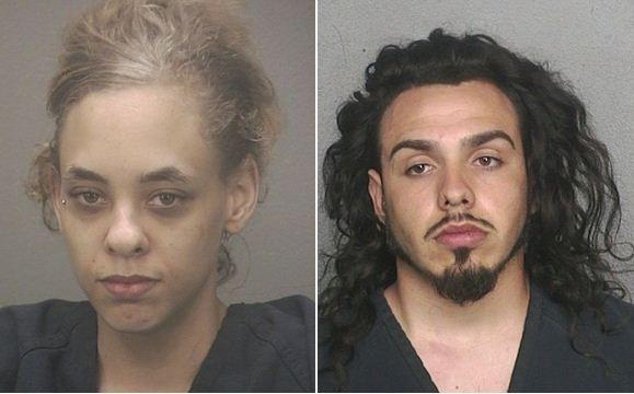 Kayla Harris, 21 (left), and Michael Licari, 21, are accused of distracting a Weston man so his home could be burglarized