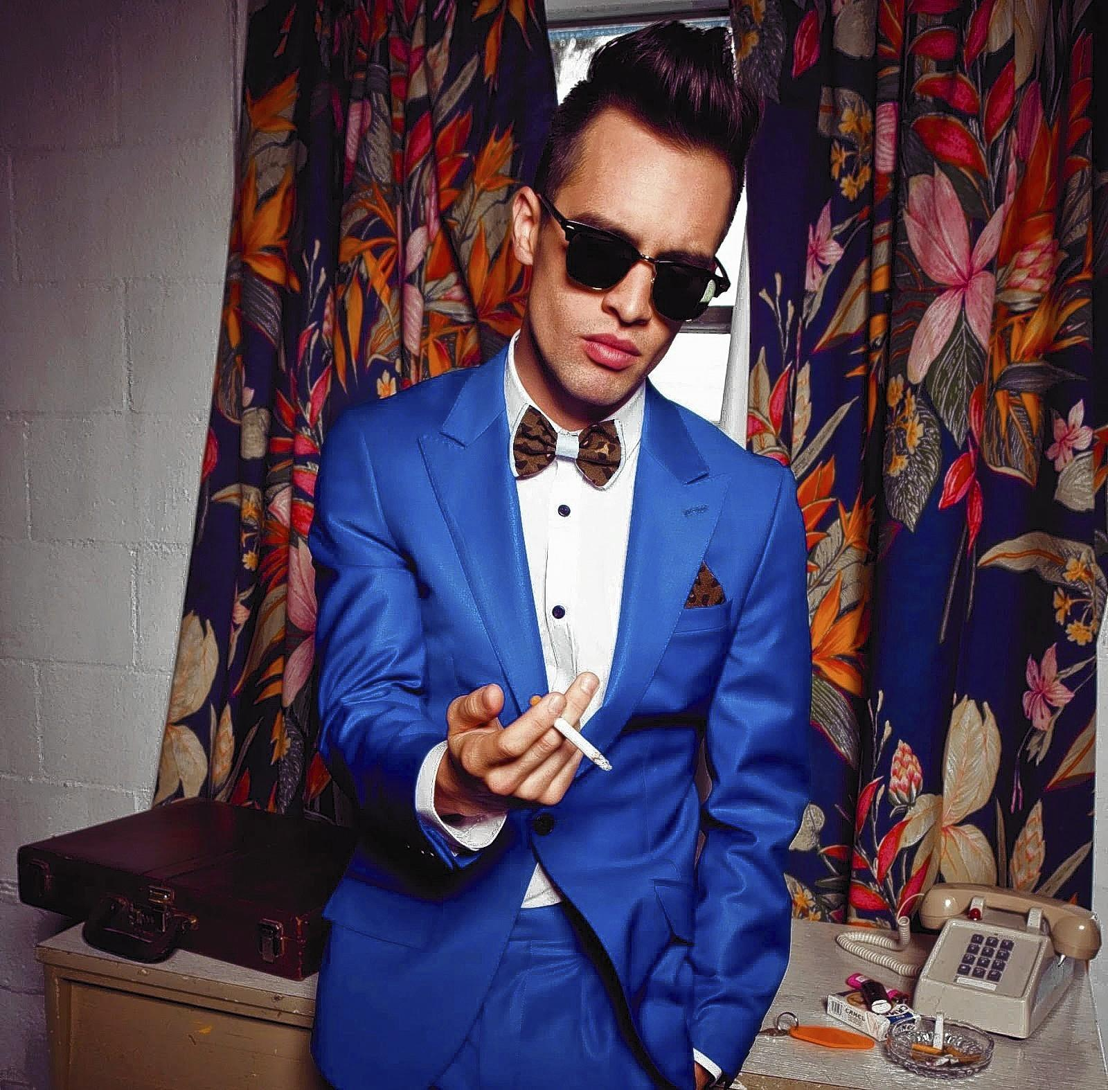 Brendon Urie fronts rock band Panic! at the Disco.