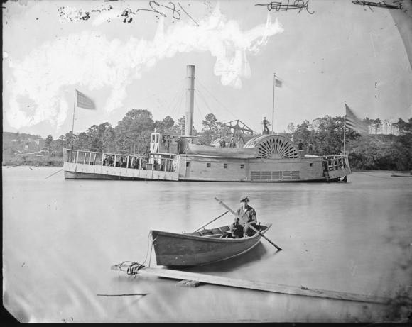 The Union gunboat Commodore Barney