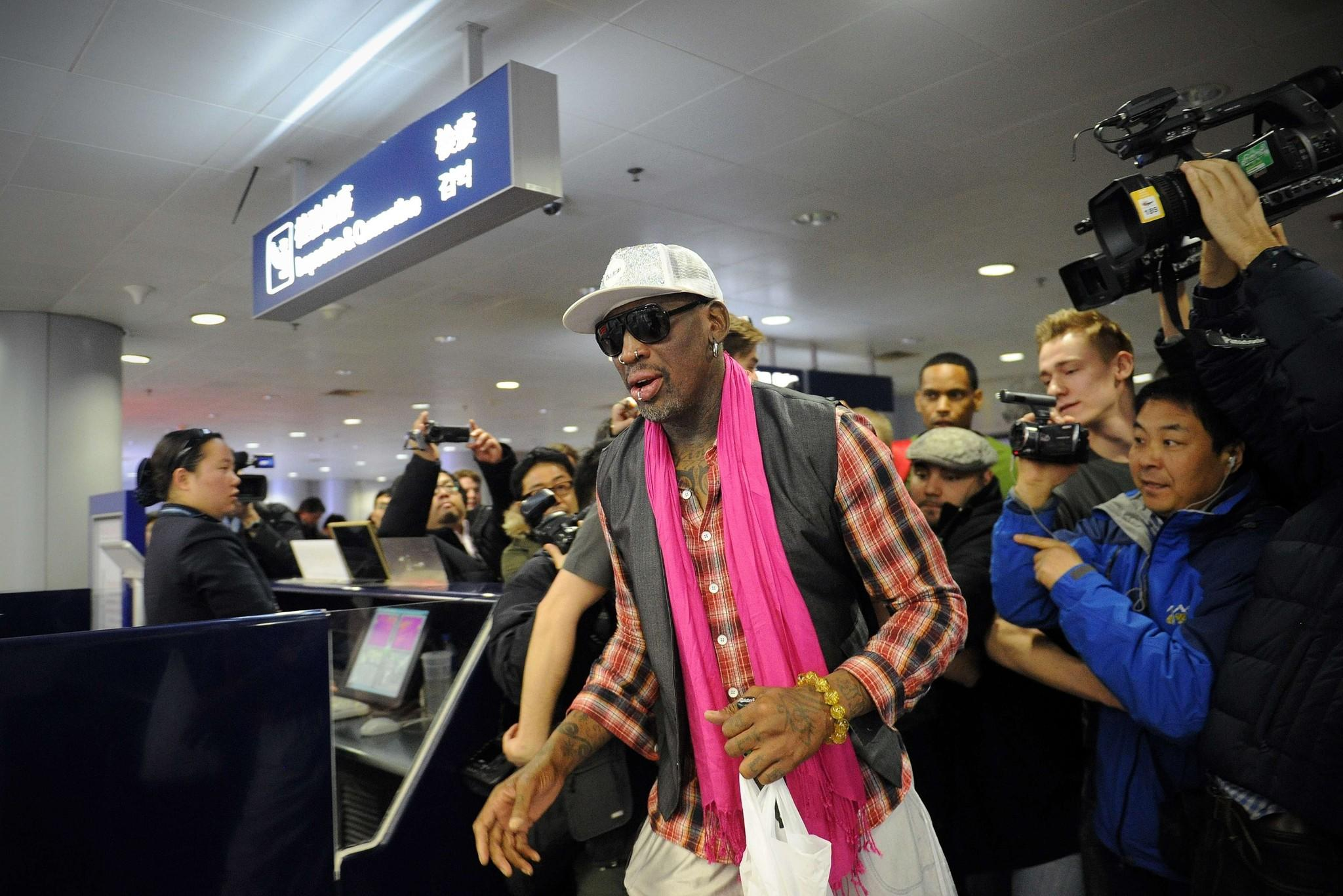 Former NBA basketball player Dennis Rodman.