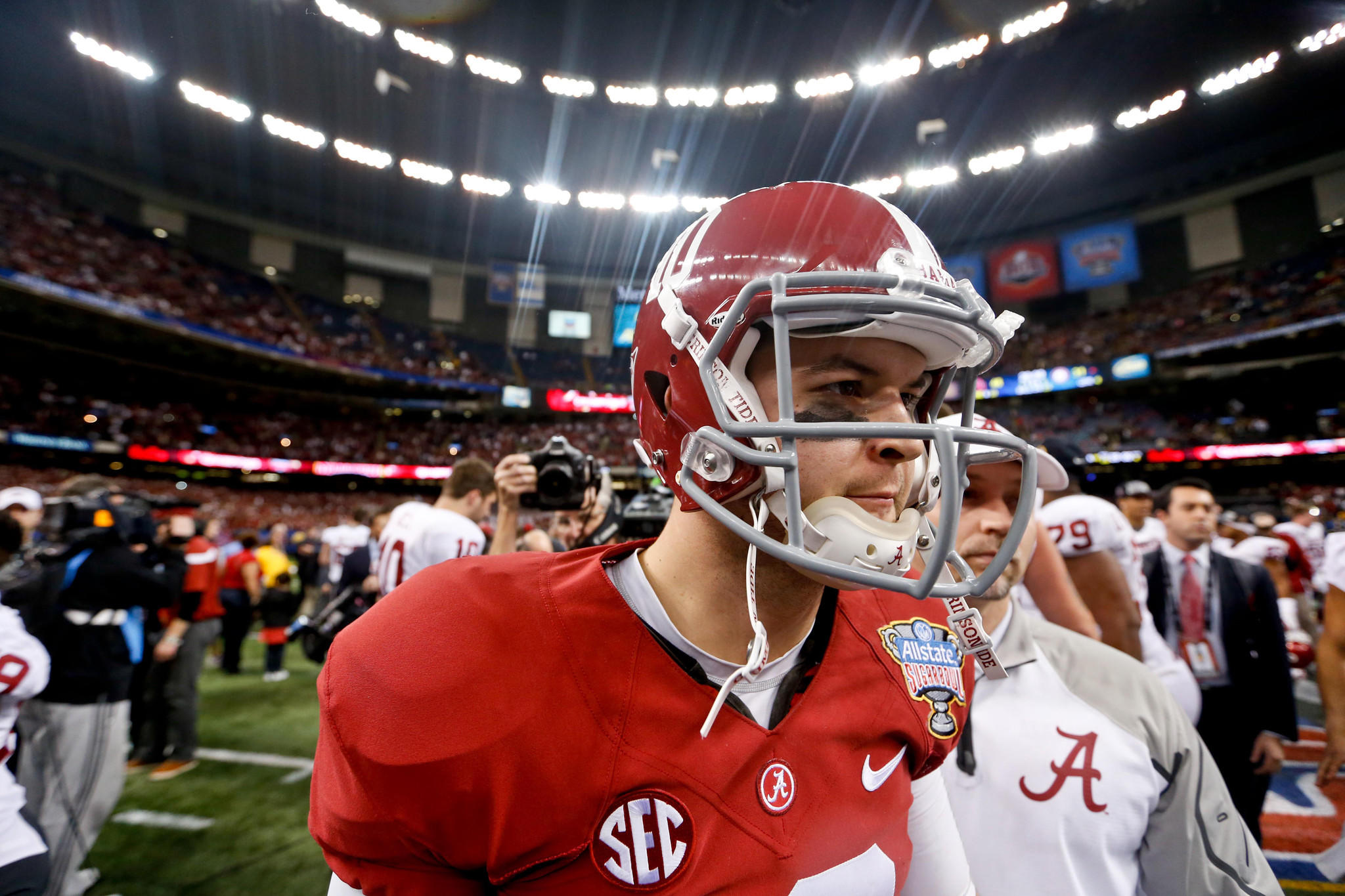 Alabama Crimson Tide quarterback AJ McCarron.