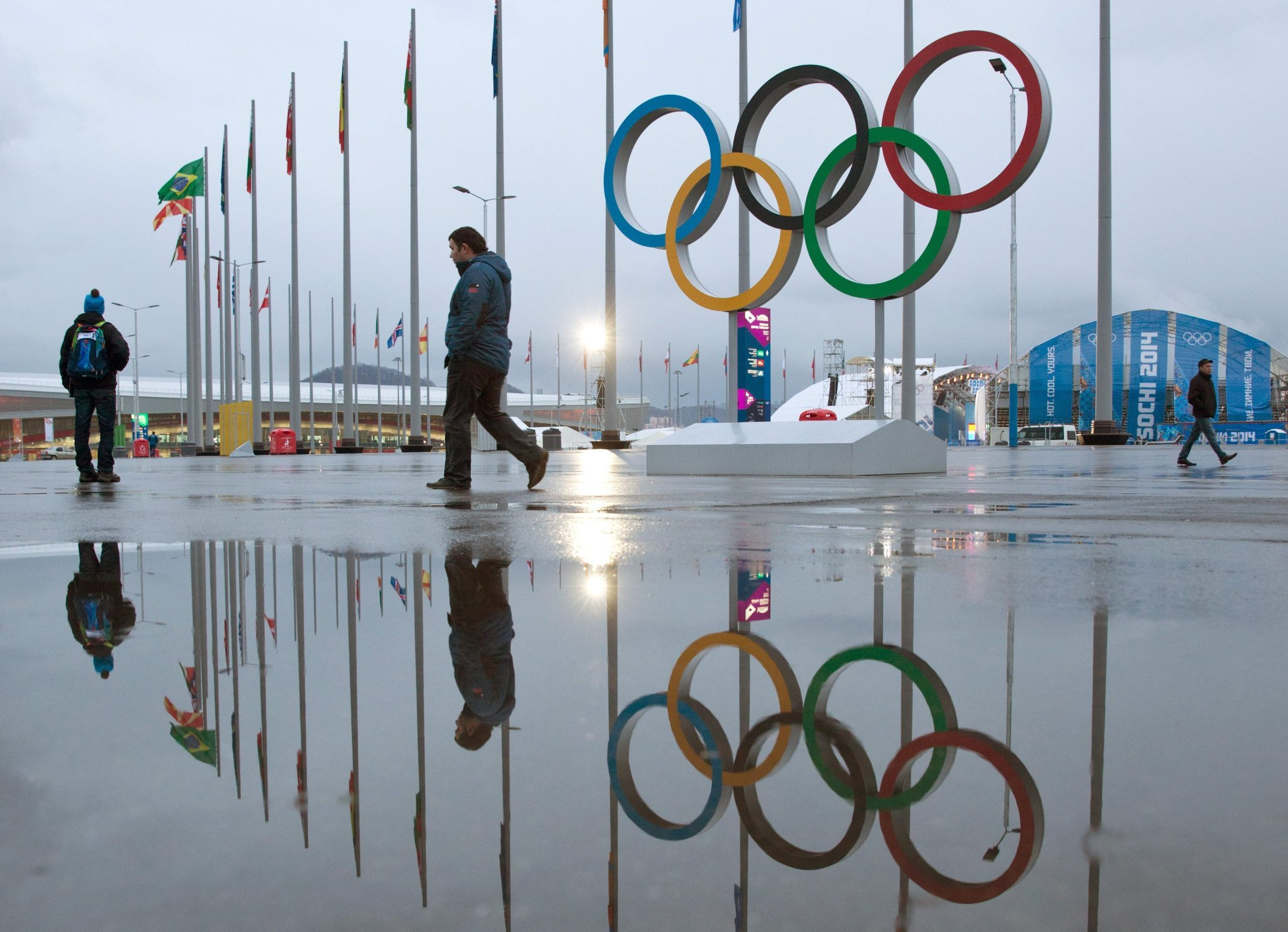 So far, a quiet, secure feeling in Sochi Olympic Park