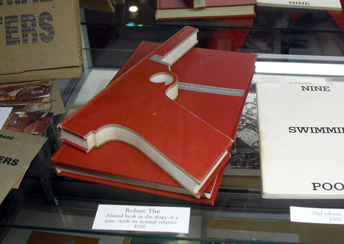 A book gun by artist Robert The is for sale for $500. His works are in the collections at the Los Angeles County Museum of Art, the Museum of Contemporary Art, the Walker Art Center and more.