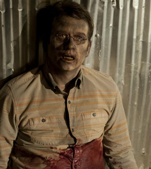 "Death episode: ""Welcome to the Tombs""; How it happened: Once the Governor realized Milton had set Woodbury's secret walker pit ablaze, the Governor beat Milton to a pulp and then asked him to kill Andrea. Milton refused and the Governor stabbed him in the stomach, so Milton would bleed out, turn into a walker, and bite Andrea; Shock factor: It was pretty obvious Milton wouldn't last the season, and Roberts was cast as a full-time regular on CBS' ""Unforgettable"" before the ""Dead"" Season 3 finale aired. Still, the disturbing twist that he was responsible for Andrea's death was a nasty surprise."