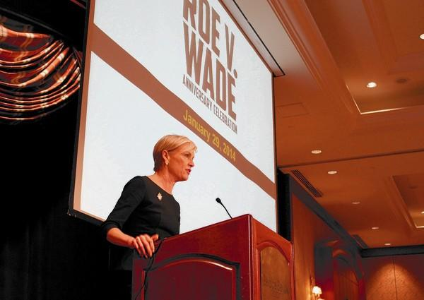 Cecile Richards, president of Planned Parenthood Action Fund, speaks at the 41st Anniversary Roe v. Wade Celebration at the Balboa Bay Resort in Newport Beach.