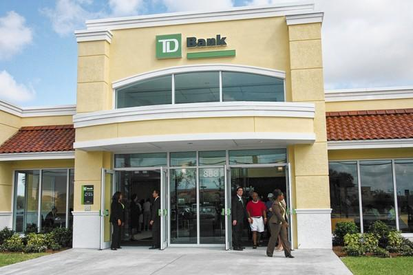 A TD Bank branch in Lake Worth.