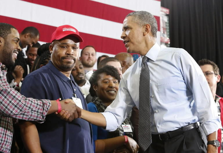 President Obama meets with voters in Prince George's County on Wednesday.