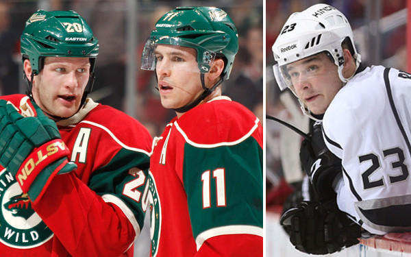 Zach Parise (11) of the Minnesota Wild will captain the U.S. Olympic hockey team with help from assistants Ryan Suter, his teammate, and Kings winger Dustin Brown.