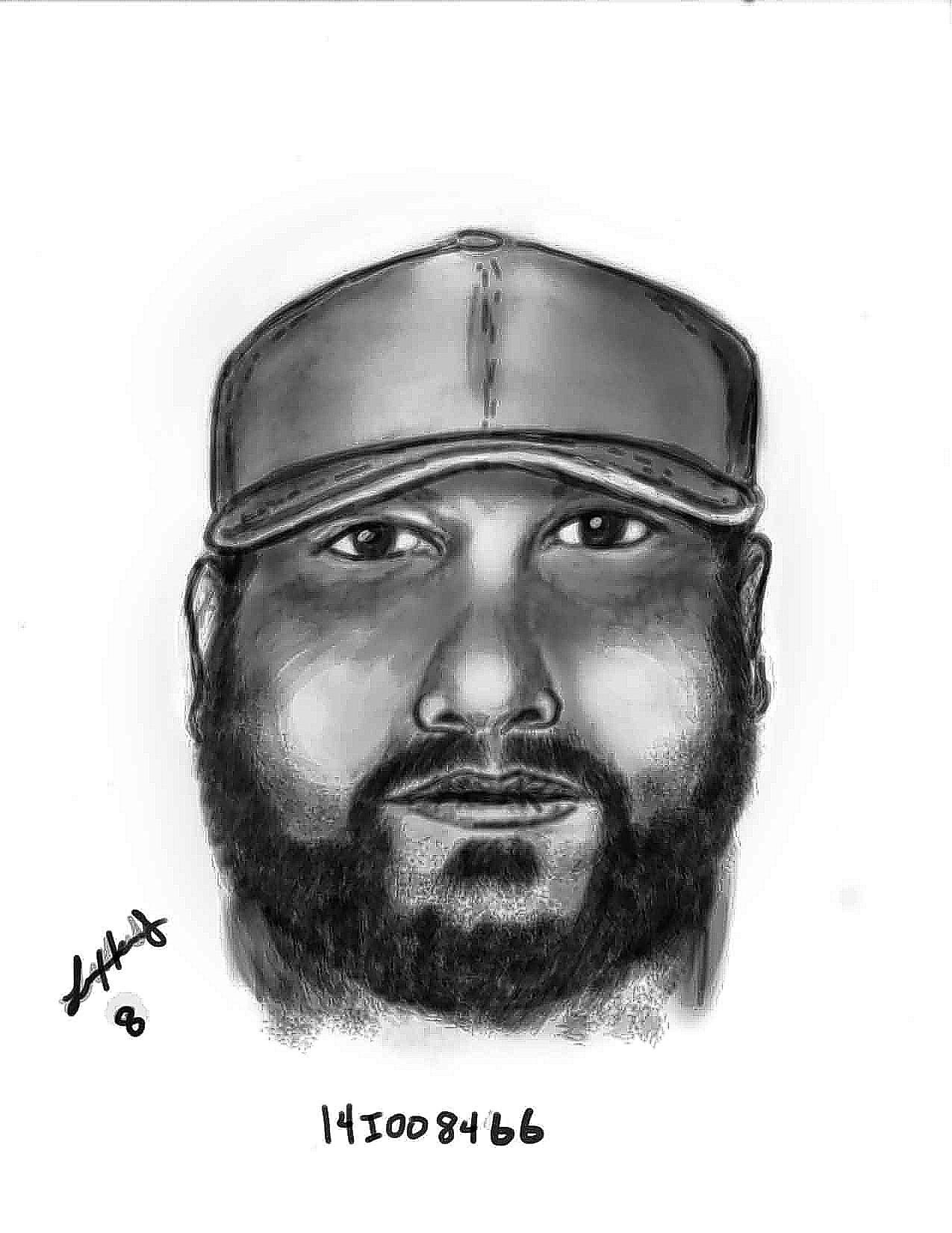 Sketch of suspect described in case of girl being asked for sex by unknown driver in Kissimmee.