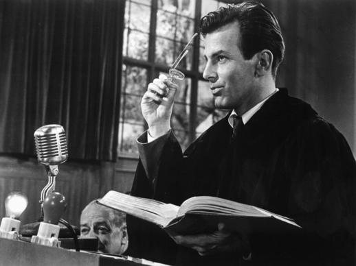 "Maximilian Schell won the lead actor Oscar for his portrayal of a defense attorney in the 1961 drama ""Judgment at Nuremberg."""