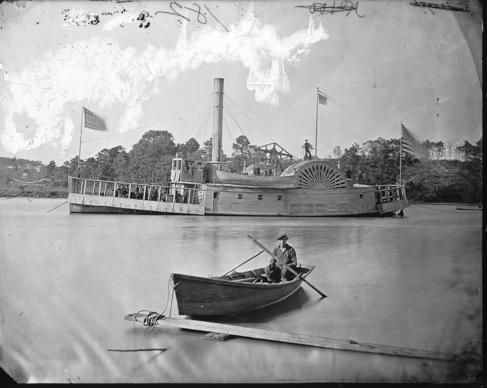 The USS Commodore Barney was one of four Union gunboats that took part in the Jan. 31-Feb. 1 Battle of Smithfield.