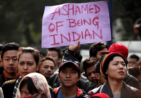 Protests in Delhi over suspected racist killing of student