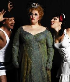 "In Virginia Opera's ""Ariadne auf Naxos,"" the ""operatic"" woman is Christina Pier, the ""pin up"" style woman is Grammy Award winner Audrey Luna, and the chap is Christopher Burchett."