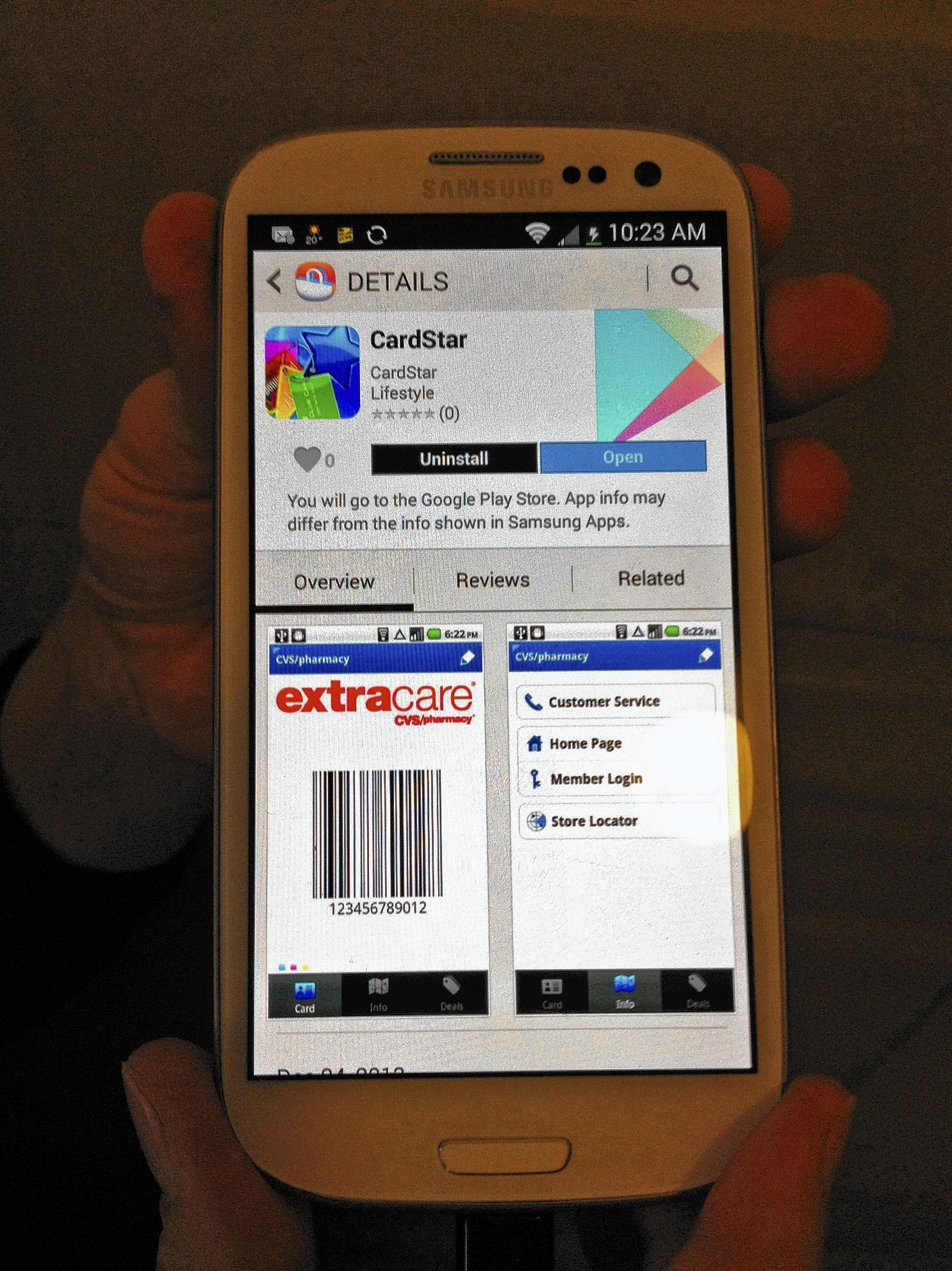 Smartphone apps such as CardStar let you store customer loyalty information on your phone and reduce key-ring clutter.