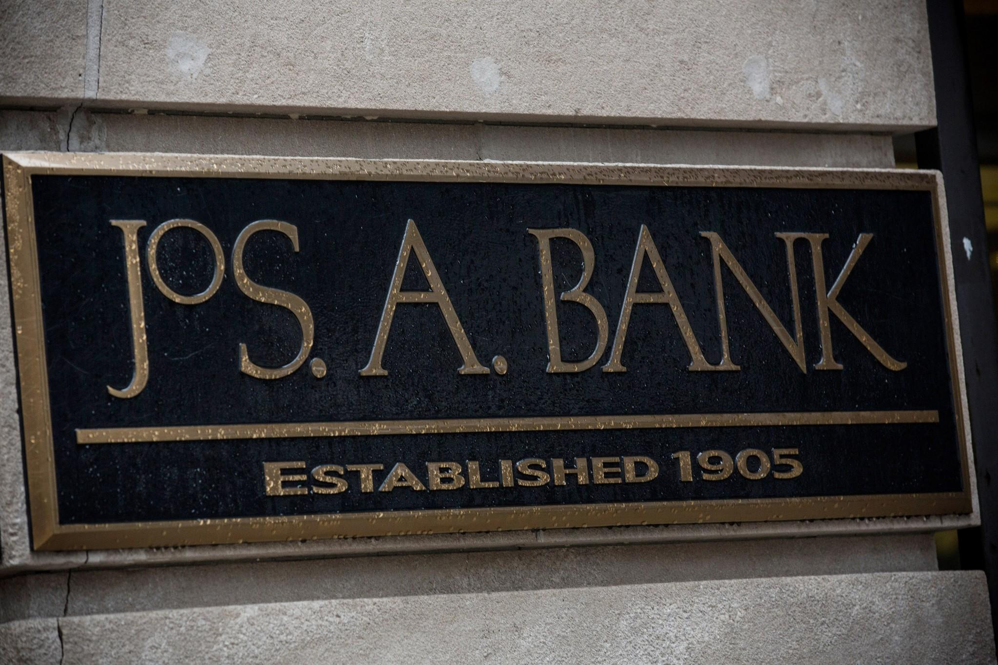 A Jos. A. Bank storefront in New York City.