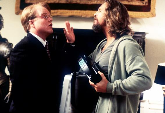 "Hoffman, left, portrays Brandt alongide Jeff Bridges' the Dude in ""The Big Lebowski."""
