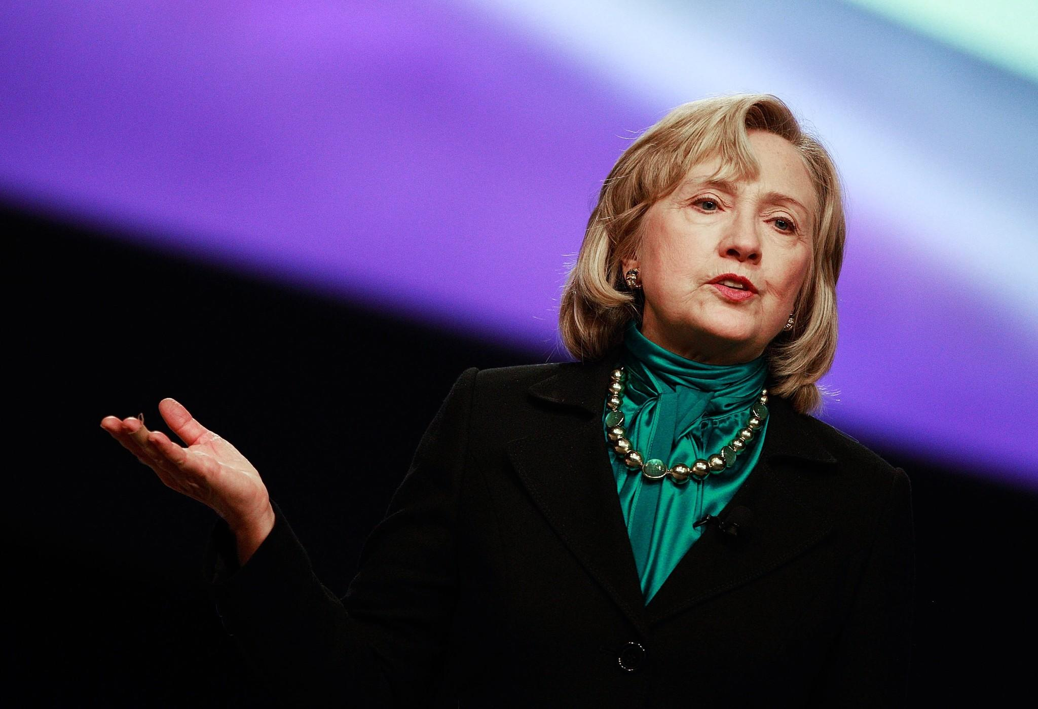 Former U.S. Secretary of State Hillary Rodham Clinton is supporting President Obama on no new Iran sanctions.