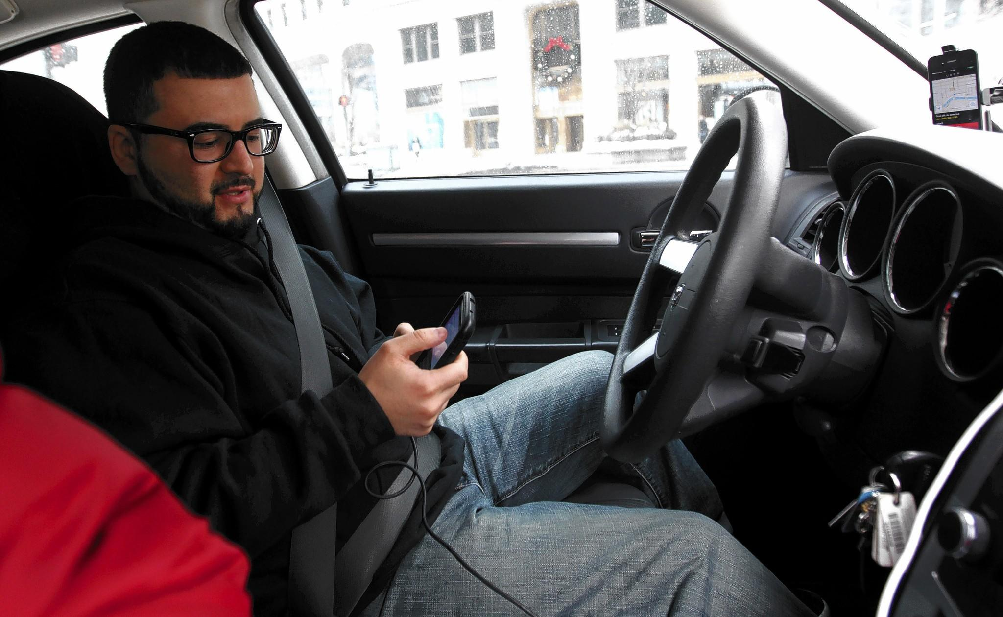 Bruno, an Uber X driver, says he's working toward being a chauffeur.