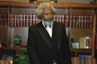 Michael E. Crutcher Sr., a scholar and actor who portrays the abolitionist leader Frederick Douglass, will present programs to students at Avon High School and then at the Avon Congregational Church on Feb. 4.