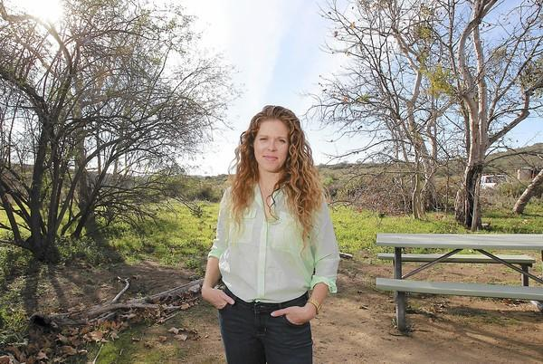 Laguna Canyon Foundation Executive Director Hallie Jones stands where Little Sycamore Canyon begins near the Nix Nature Center in the Laguna Coast Wilderness Park in Laguna Canyon.