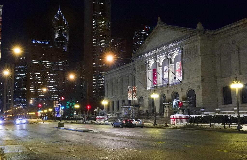 Exterior of the Chicago Art Institute.
