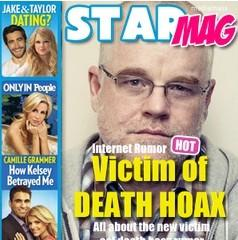 Philip Seymour Hoffman is just one of the many celebrity victims of a death hoax at the Media Mass website. The hoax is a hoax.